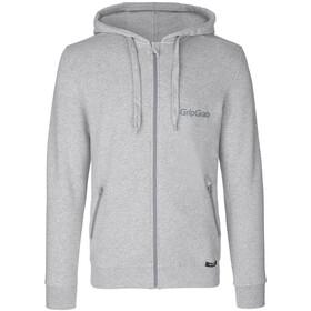 GripGrab Icon Bluza z bawełny organicznej na zamek błyskawiczny, grey